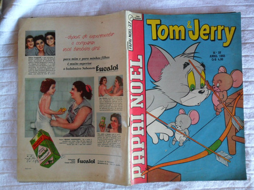 papai noel nº 37! 1ª série! abril 1955! ebal!