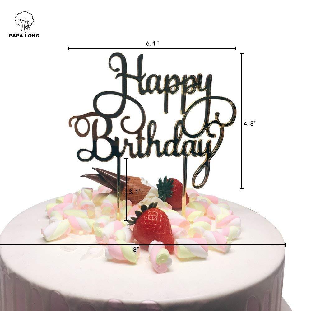 18 Cumpleaños Pastel De Cumpleaños-Con Espejo