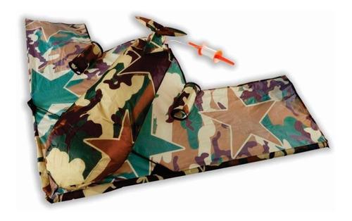 papalote 3d kite camuflage 1.52 mts de alas c/ recolector
