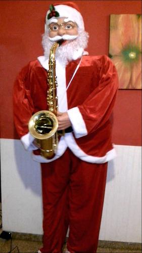 papanoel gigante de 1.80mts canta baila toca saxofon real