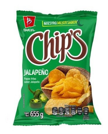 papas chip's jalapeño 655 g