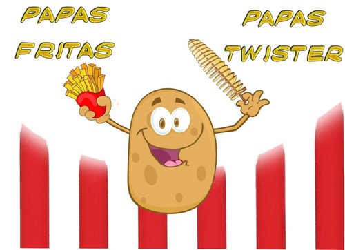 papas fritas ,papas twister para fiestas o eventos