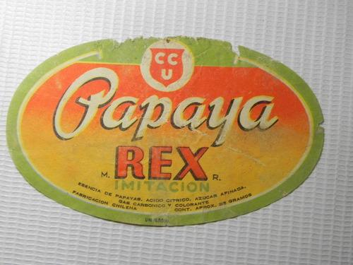 papaya rex ccu chile etiqueta bebida antigua