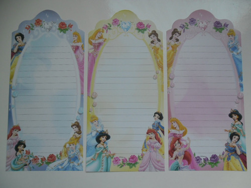 papéis de carta importados princesas