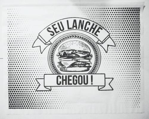 papel acoplado c/ 1500 hamburger hamburger hamburguer lanche