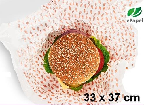 papel acoplado c/ 2.500 food wrap fritas lanches hamburg dog
