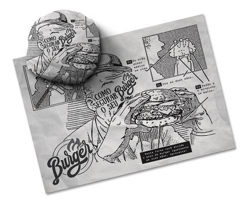 papel acoplado - hamburguer burguer burger frios 1.000 unds.