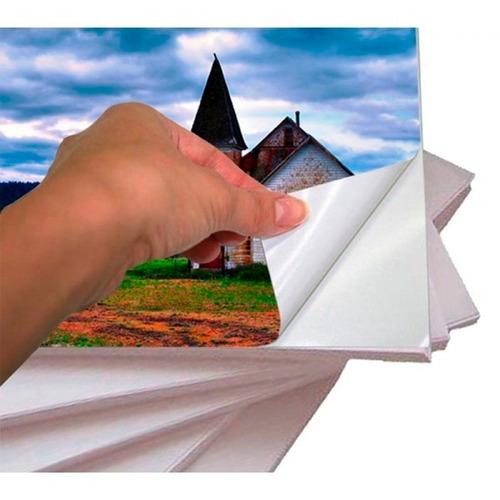 papel adesivo 135g a4 cx c/ 1000folhas glossy à prova d´água