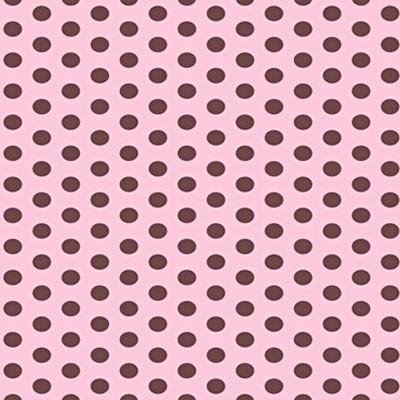 Papel adesivo contact bolinha rosa e marrom vulcan 45cm x for Papel decorado rosa