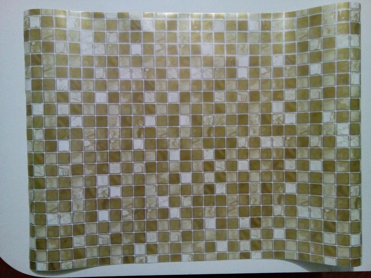 c43fd7237 papel adesivo contact pedras pastilha dourada 45cm x 10mt. Carregando zoom.