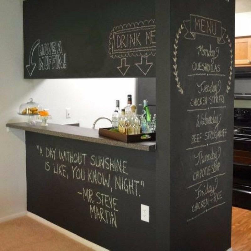 Papel adesivo de lousa parede quadro negro 3 00 x 0 61 m - Papel de pared negro ...