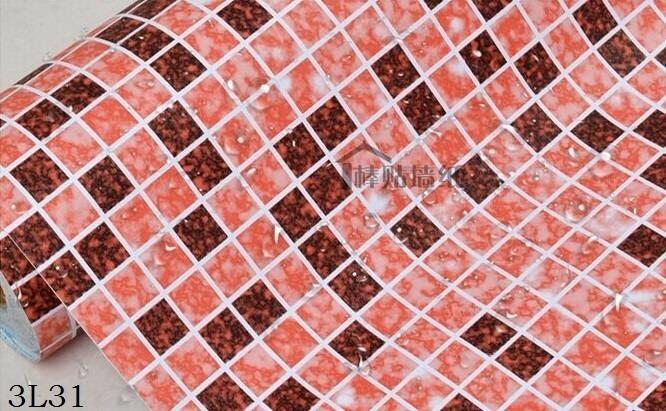 Papel adhesivo azulejos venecitas pvc lavable 3l31 2 for Papel pared lavable