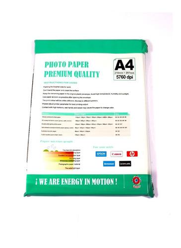 papel  adhesivo glossy 135 grs a4 50 hojas