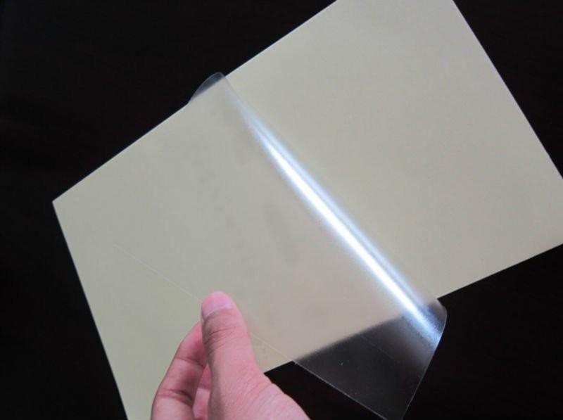 Papel adhesivo transparente para etiquetas 10 hojas 70 for Papel adhesivo pared