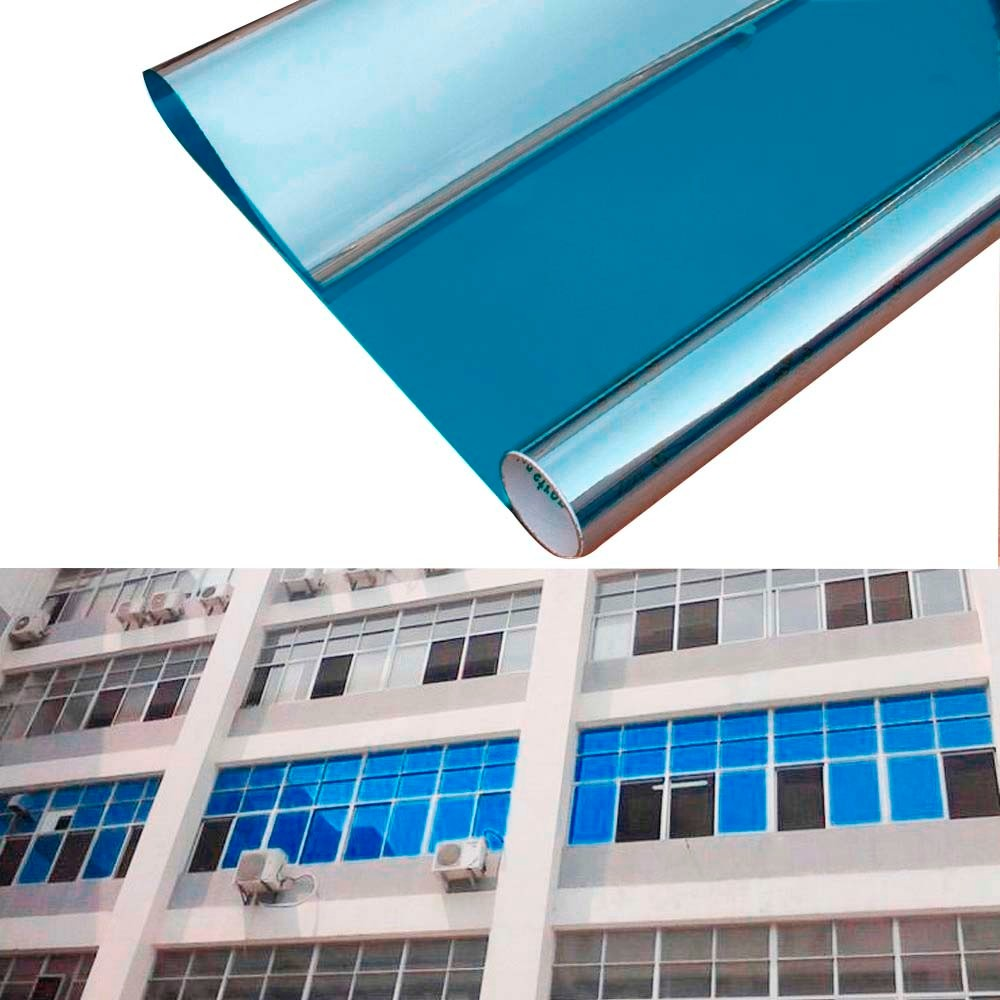 Papel ahumado azul espejo de 50cm de ancho bs for Espejo 50 cm ancho