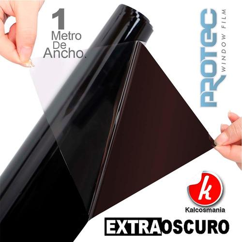 papel ahumado negro extra oscuro 1 metro de ancho antirayas