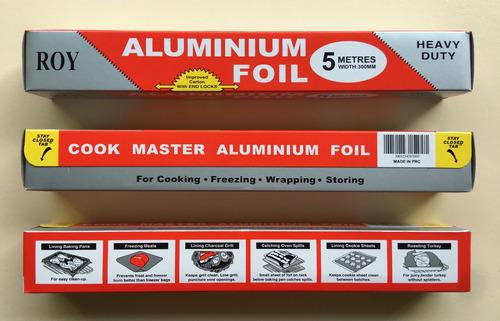 papel aluminio 5m - 8m - 10m