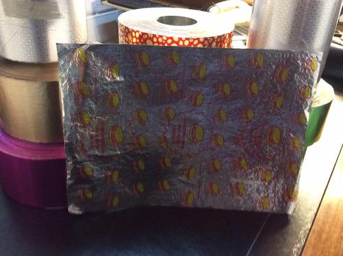 papel aluminio envolturas (alfajores,bombones,golocinas)
