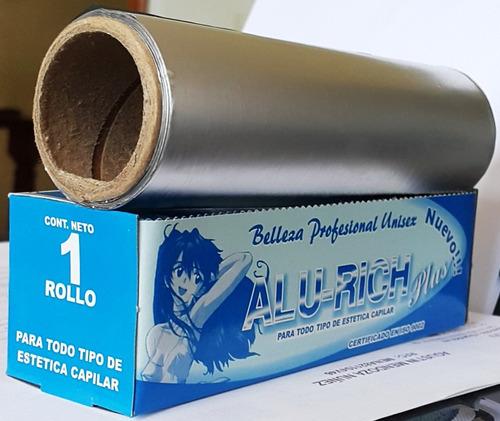 papel aluminio para estetica