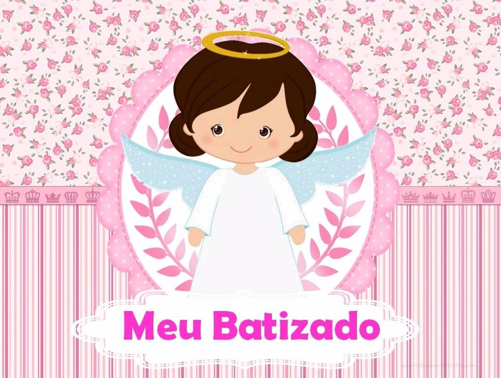 Armario Horizontal Inox ~ Papel Arroz Personalizado Batizado Menina Art Grátis R$ 9,99 em Mercado Livre