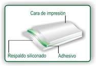 papel autoadhesivo etiquetas, calcomania de 25 hojas carta
