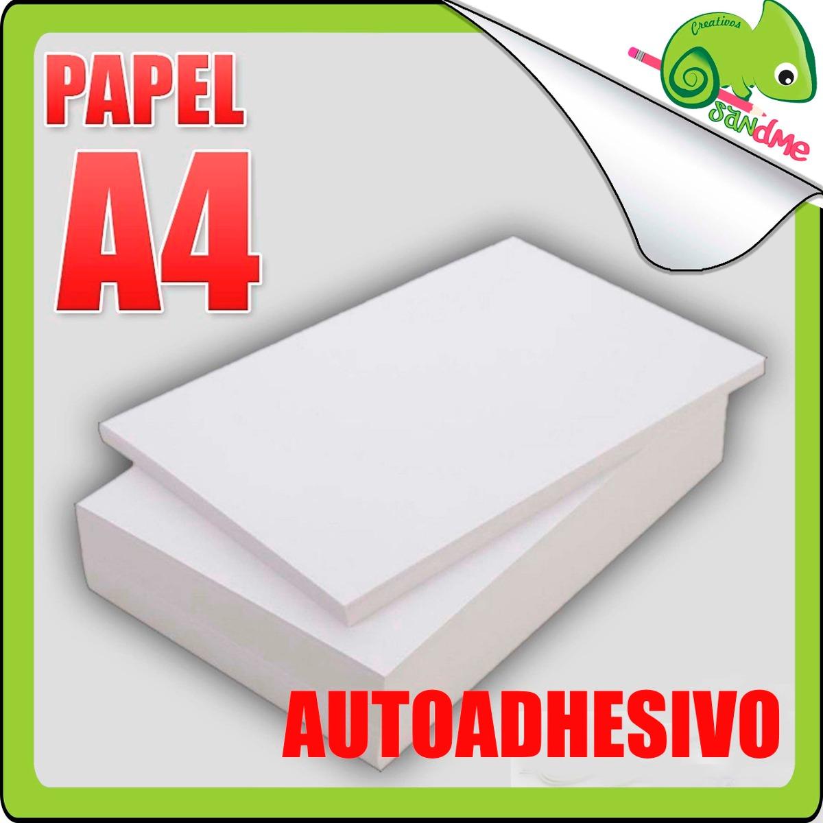 Papel autoadhesivo hoja para impresoras blanco a4 adhesivo s 65 00 en mercado libre - Papel pared autoadhesivo ...
