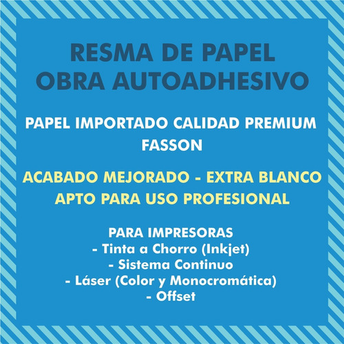 papel autoadhesivo resma