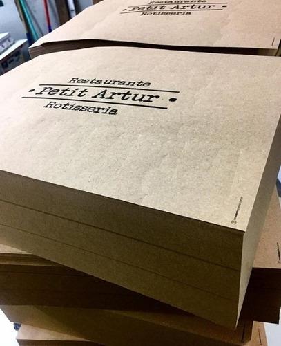 papel bandeja em papel kraft personalizados c/3000 unds