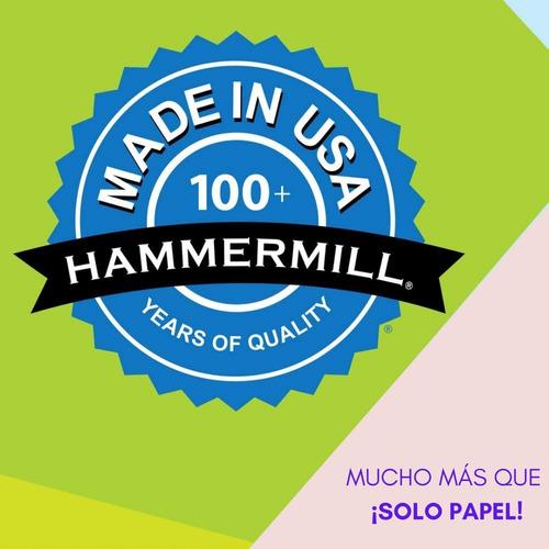 papel bond a4 hammermill 99.99% sin atascos mejor que xerox