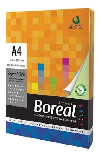 papel boreal a4 de color 75g x500 hojas verdes