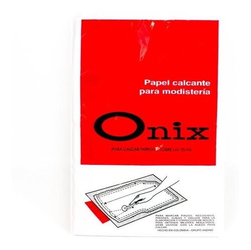 papel calcante uso modisteria paquete x 10 hojas onix