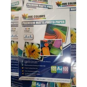 Papel Calcio Marca Ink Colors Para Sublimación X 100 Hojas