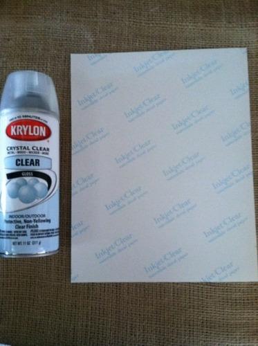 papel calcomanias claros, transparen 8,5 x 11 uso decorativo