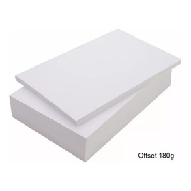 Papel Cartão 180g A4 Offset Com 250 Folhas Branco
