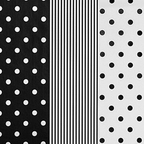 Papel china decorado bolitas rayas blanco y negro 240 piezas 2 en mercado libre - Papel con rayas ...
