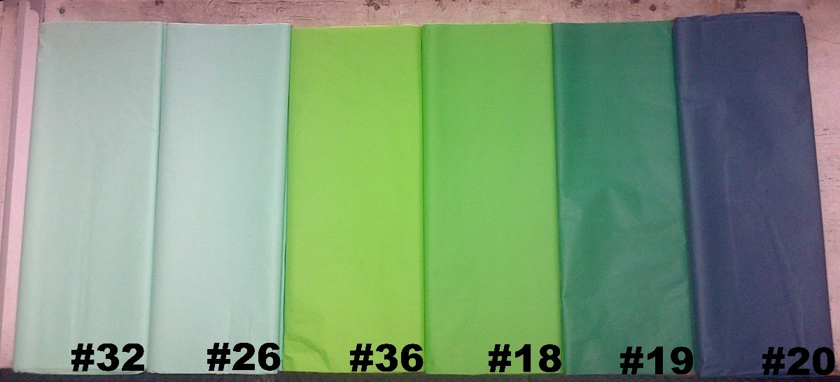 Papel China Verde En 6 Tonos 150 En Mercado Libre - Tonos-verde