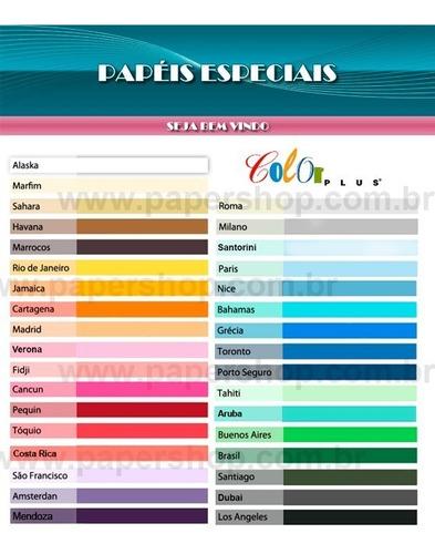 papel color plus a3 180g com 128 folhas
