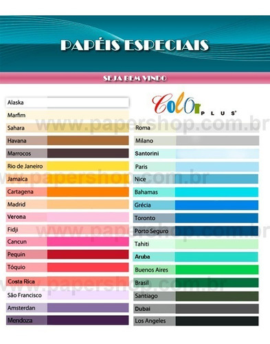 papel color plus liso fosco a4 - 120g/m2 com 50 folhas