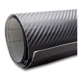Papel Contac Tipo Fibra De Carbono 3d Negro Mate Carro Moto