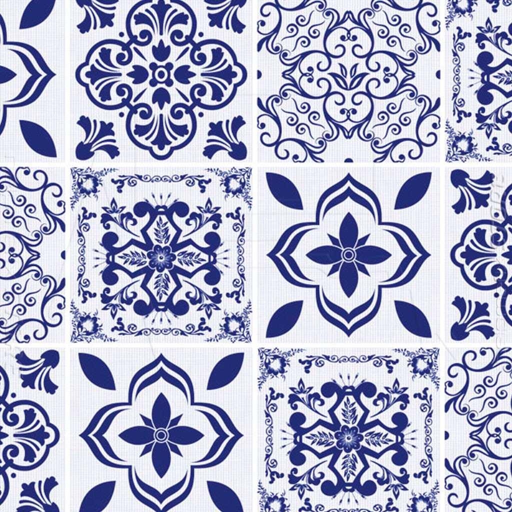 Papel contact azulejos portugu s hidr ulico azul 45cm x for Azulejos para paredes