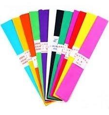 papel crepe color 50x200 x5 cm unidades