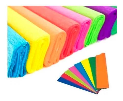 papel crepe colores a eleccion x10 unidades distribuidora lv