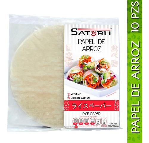 papel de arroz 10 hojas / 100g