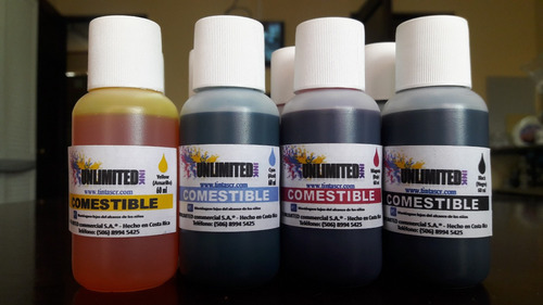 papel de arroz y tintas comestibles unlimited ink 120ml cmyk