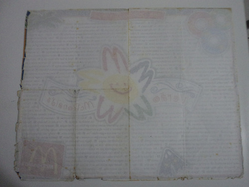 papel de bandeja mc donalds - verão mc donalds