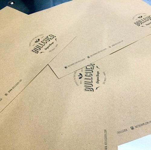 papel de bandeja papel kraft personalizado 1 cor c/1000 unds