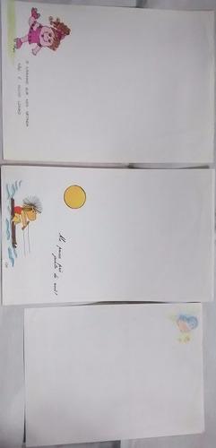 papel de carta antigo coleção 100 papeis divididos em 18 lot