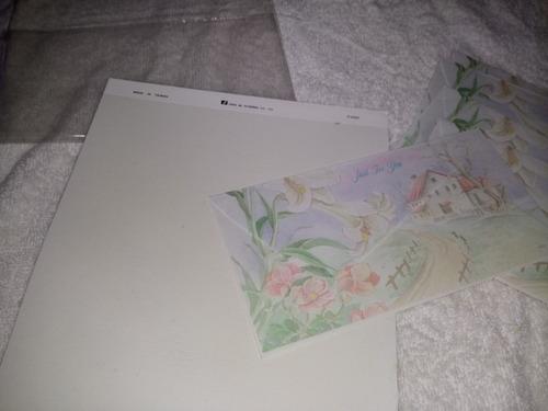 papel de carta com envelope 15 tt frete 10.00