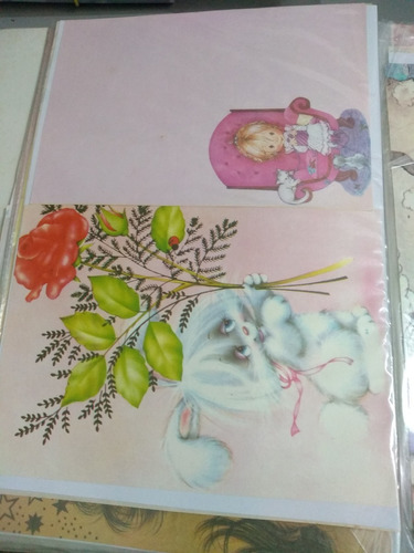 papel de carta decorado  antiguidade