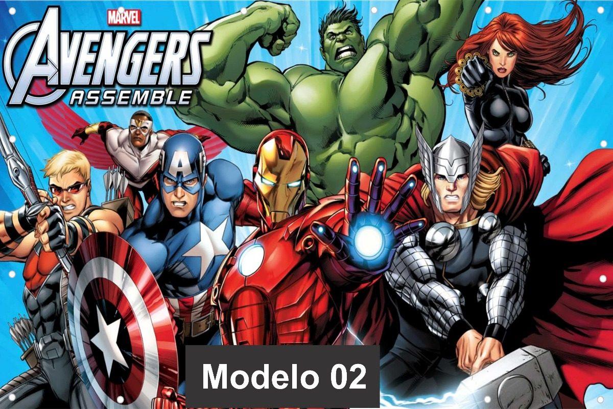 Aparador Tv ~ Papel De Parede 1 Adesivo Vingadores Marvel 12m u00b2 3,0 X 4,0 R$ 380,00 em Mercado Livre